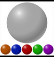 colored balls vector image
