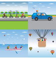 Family sport Family summer vacation Active family vector image