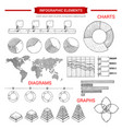 infographic sketch graph chart elements vector image