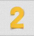 number two yellow abstract design vector image