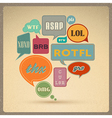 retro style speech bubbles vector image