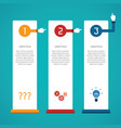 abstract 3 steps infographic template in flat vector image vector image