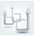 Abstract 3d arrows logo vector image vector image
