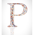 Abstract letter P vector image