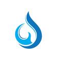 abstract swirl water drop logo vector image vector image