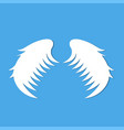angel wings blue background vector image vector image