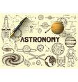 Astronomy sketch vector image vector image