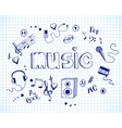 Background with music elements vector image vector image