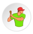 Baseball player icon cartoon style vector image vector image