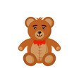 bear toy flat style cartoon vector image