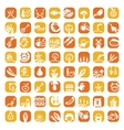 big color farm icon set vector image vector image