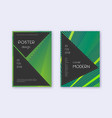 black cover design template set green abstract li vector image