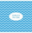 Blue geometric seamless pattern with chevron vector image vector image