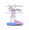 bracelets friendship blue and pink with a silhouet vector image