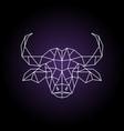 buffalo head in geometric style wild animal vector image