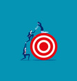 business person team work towards the target vector image