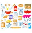 cartoon baking ingredients bakery ingredients