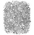 cartoon doodles space sketchy fun vector image vector image