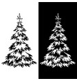 christmas fir tree pictograms vector image vector image