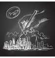 city background sketch vector image vector image