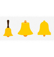 colection bells school bell icon church bell icon vector image