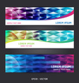 collection abstract banner design horizontal