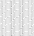 Colored 3D gray striped ribbons vector image vector image