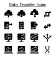 computer data transfer icon set vector image