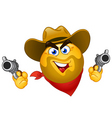 Cowboy emoticon vector | Price: 1 Credit (USD $1)
