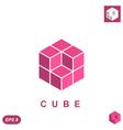 Cube isometric logo concept vector image