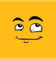 cute avatar dreamy emoji flat vector image