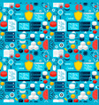 data science tile pattern vector image vector image