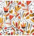 detailed foliage seamless pattern with decorated vector image