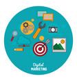 digital marketing seo media network vector image vector image