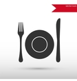 Dish fork and knife vector image