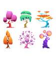 fantasy tree fairytale garden plants glowing vector image vector image