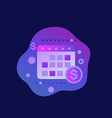 financial calendar or planning icon vector image vector image