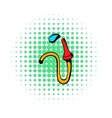 Fire hose icon comics style vector image vector image