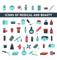 flat icons for medicine and beauty vector image vector image