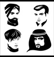 four men portrait vector image vector image