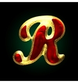 Golden and red letter r