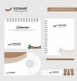 hot dog logo calendar template cd cover diary and vector image vector image