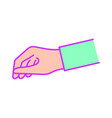 isolated hand design vector image