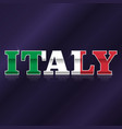 italy flag symbol vector image vector image
