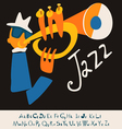 JAZZ concert music background flat vector image