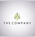 leaf logo ideas design on vector image vector image