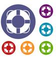 lifeline icons set vector image vector image
