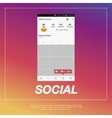 Mobile application and Icon for social network vector image vector image