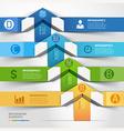 Modern arrow infographics template vector image