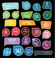 modern badges collection vector image vector image